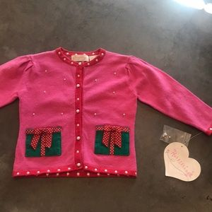 Hartstrings holiday sweater with pearls